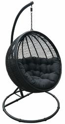 Miloo :: Fotel wiszący Cocoon De Luxe czarny - czarny