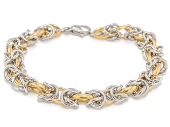 Bransoletka ze stali nierdzewnej złota splot - złoty