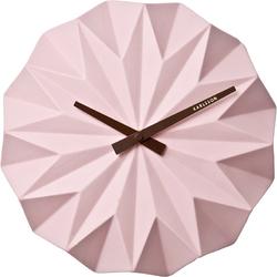 Zegar ścienny Origami Karlsson różowy KA5531PI