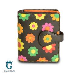 Portfel Damski w kwiatki Visconti Sunshine z ochroną RFID dla kart