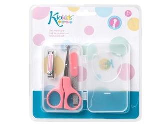 RÓŻOWY zestaw do manicure dla niemowląt