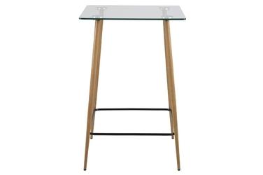 Stół barowy Dafne 70x70 cm szklany blat