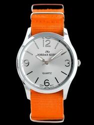 Pomarańczowy Damski zegarek na pasku JORDAN KERR - B6944 zj738b -antyalergiczny