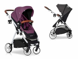 EasyGO Optimo Purple Wózek do 22kg z obracanym siedziskiem + Torba dla Mamy Gratis