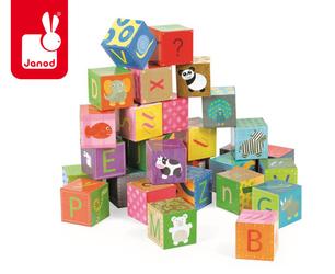 JANOD Klocki puzzle 6w1 Alfabet