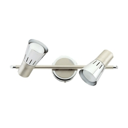 Srebrna lampa sufitowa na dwie żarówki DeMarkt 505020302