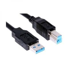 Kabel USB 3.0, USB A  M- USB B M, 1.8m, czarny, Logo