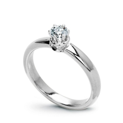 pierścionek białe złoto 750 i naturalny diament