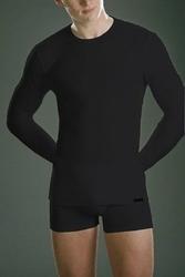 Cornette authentic 214 długi rękaw plus czarny koszulka