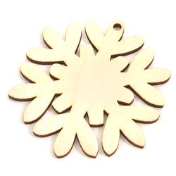 Drewniana dekoracja śnieżynka 8 cm - ŚNIE2