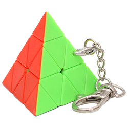 Pyraminx Magic Cube Keychain Stickerless