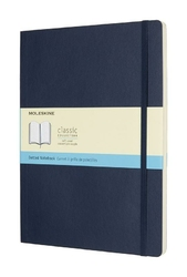 Notes Moleskine w miękkiej oprawie XL szafirowy w kropki
