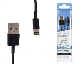 Whitenergy Kabel iPhone USB Lightning 100 cm czarny, transfer, ładowanie