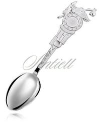 Srebrna łyżeczka dla dziecka pr.925 grawer bocian