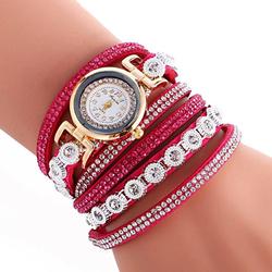 Zegarek ZŁOTY bransoletka pasek OWIJANY - rose - ROSE