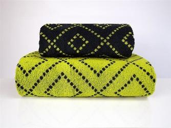TOMMY ręcznik bawełniany dwustronny stalowo-limonkowy FROTEX - stalowo-limonkowy