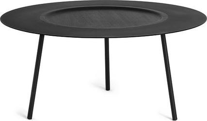 Stolik kawowy Woodplate duży czarny