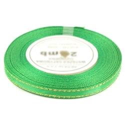 Wstążka satynowa ozdobna 6mm22m - zielony - ZIEL