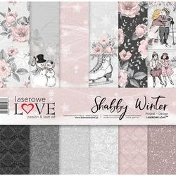 Papier zimowy Shabby Winter 30,5x30,5 cm - ZESTAW