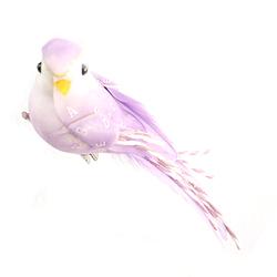 Ptaszek na klipie 10 cm - fioletowy - fioletowy