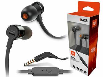 Słuchawki dokanałowe JBL T290 z mikrofonem Czarne - Czarny