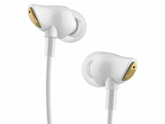 Rock douszne słuchawki Stereo Zircon Białe - Biały