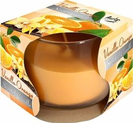 Bispol, świeca zapachowa w szkle, wanilia-pomarańcza, 1 sztuka