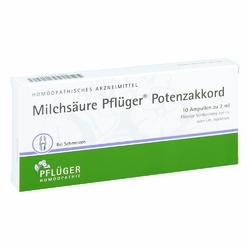 Milchsäure Pflüger Potenzakkord iniecto -lsg.amp.