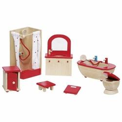 Wyposażenie domków - Łazienka czerwona