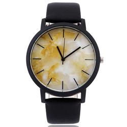 Zegarek marmurkowy duża tarcza miodowy - MIODOWY