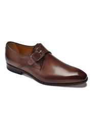 Eleganckie brązowe buty męskie typu monk Othello 9