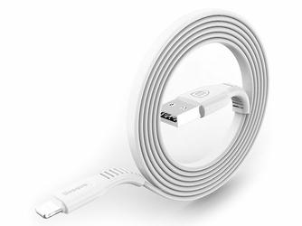 Kabel Baseus iPhone Lightning - USB 1m 2A tough series biały - Biały