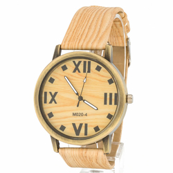 Zegarek ekologiczny jasny brązowy - jasny brązowy