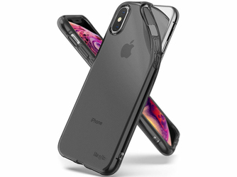 Etui Ringke Air Apple iPhone XXs Smoke Black + Szkło Alogy - Czarny