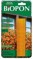 Biopon, pałeczki nawozowe do roślin balkonowych, 30 sztuk