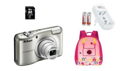 Nikon Coolpix A10 +16GB + PLECAK + ŁADOWARKA + 2AKKU