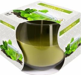 Bispol, świeca zapachowa w szkle, zielona herbata, 1 sztuka