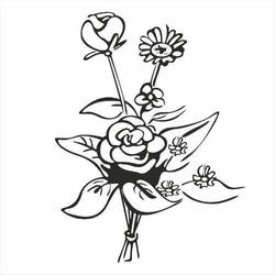 Stempel gumowy Bukiet kwiatów