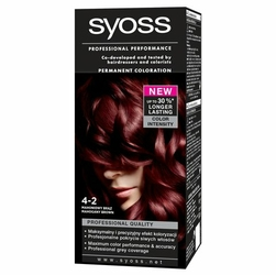 Syoss Color, farba do włosów, 4-2 mahoniowy brąz