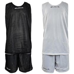Komplet koszykarski GIVOVA double czarno-biały - Czarno-Biały