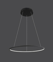 Altavola Design :: nowoczesna lampa Ledowe Okręgi No. 1 100cm czarna in 4k - czarny