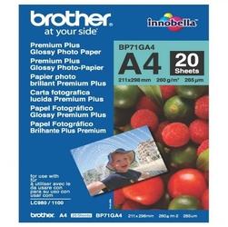 Brother Glossy Photo Paper, foto papier, połysk, biały, A4, 260 gm2, 20 szt., BP71GA4, atrament