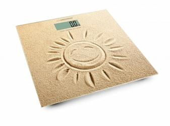 Esperanza Szklana waga łazienkowa - ultra cienka z LCD elektroniczna. SunShine