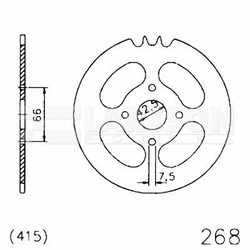 Zębatka tylna stalowa JT 20-0268-47, 47Z, rozmiar 415 2300918 Hercules Prima 25