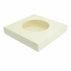 Pudełko na kartkę z okienkiem GoatBox - ecru z fakturą