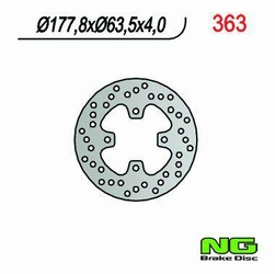 NG363 TARCZA HAMULCOWA POLARIS PREDATOR 500 178x63x4