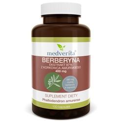 BERBERYNA ekstrakt 97 z kory Korkowca amurskiego 400 mg + Cynamon cejloński 100 mg - 100 kapsułek