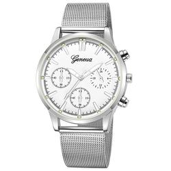 Zegarek MĘSKI Elegancki GENEVA srebrny - silver white