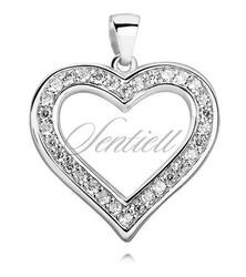 Srebrna zawieszka pr.925 piękne serce z cyrkoniami