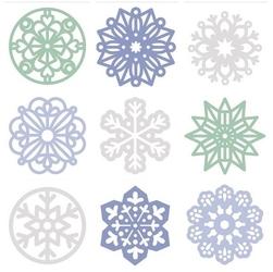 Filcowe dekoracje świąteczne 45 szt. - śnieżynki - SN